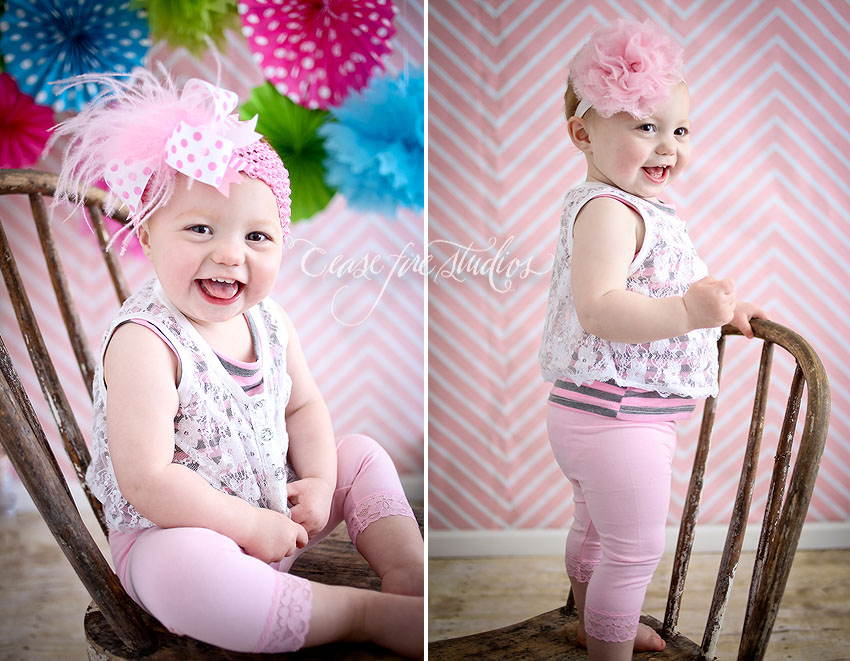 Kid, portraits, baby, 1 year, smash, girl, fun, pink, Maryville, Mo, missouri, st. joseph, iowa, nebraska,