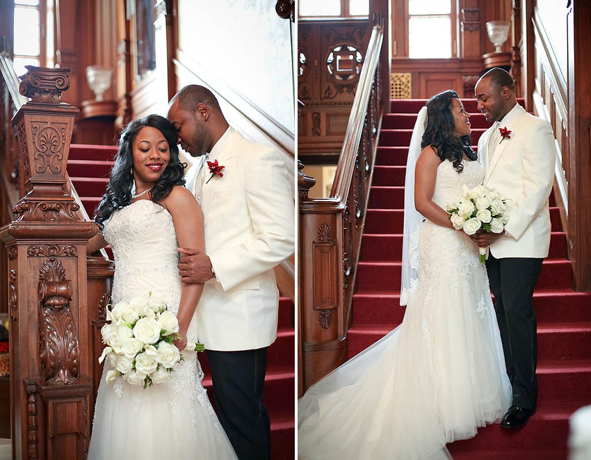 Kansas City, loose mansion, wedding, bride, african american, spring, married